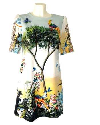 dress with paradise bird