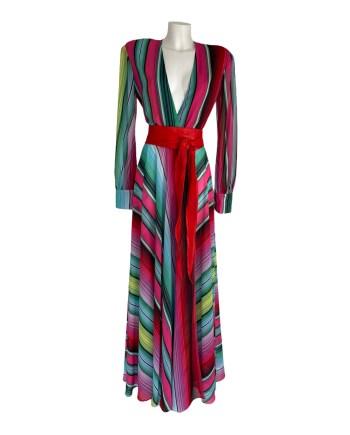 maxi gestreepte jurk