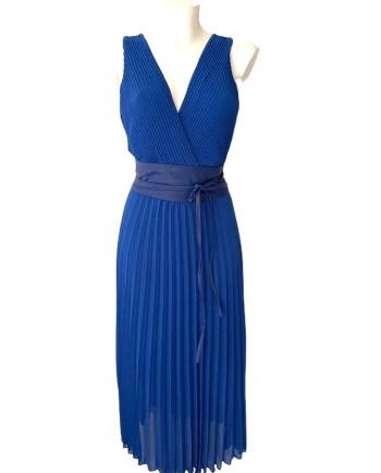 kobalt plisse dress