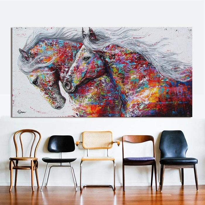 horse canvas art abstract