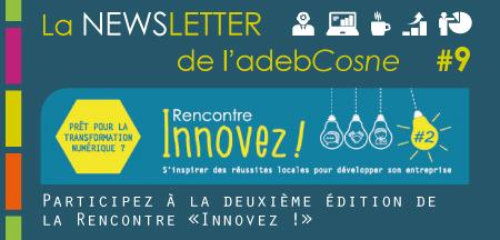 NEWSletter n°9 : deuxième édition de la Rencontre «Innovez !»