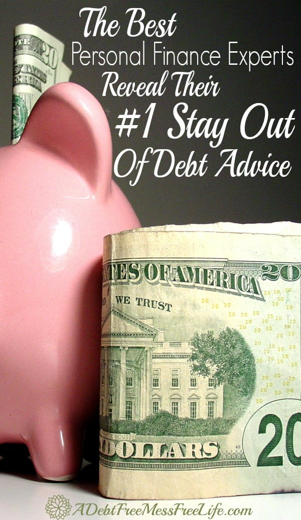 Top Personal Finance Experts Reveal Their 1 Stay Out Of Debt Advice A Mess Free Life