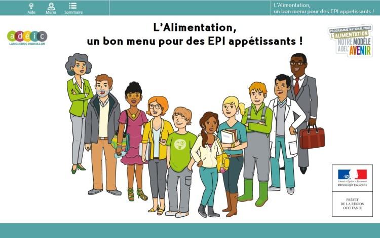 Capture d'écran de l'application sur les EPI