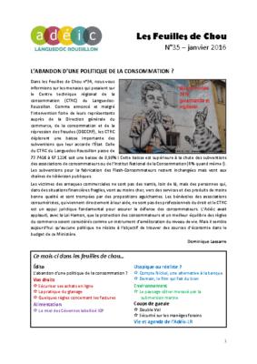 N°35 – janvier 2016