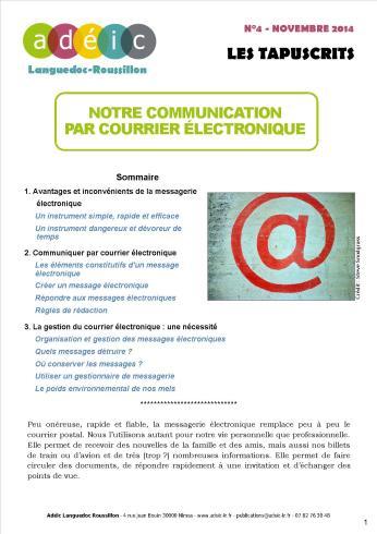 Tapuscrit - Courriers électronique
