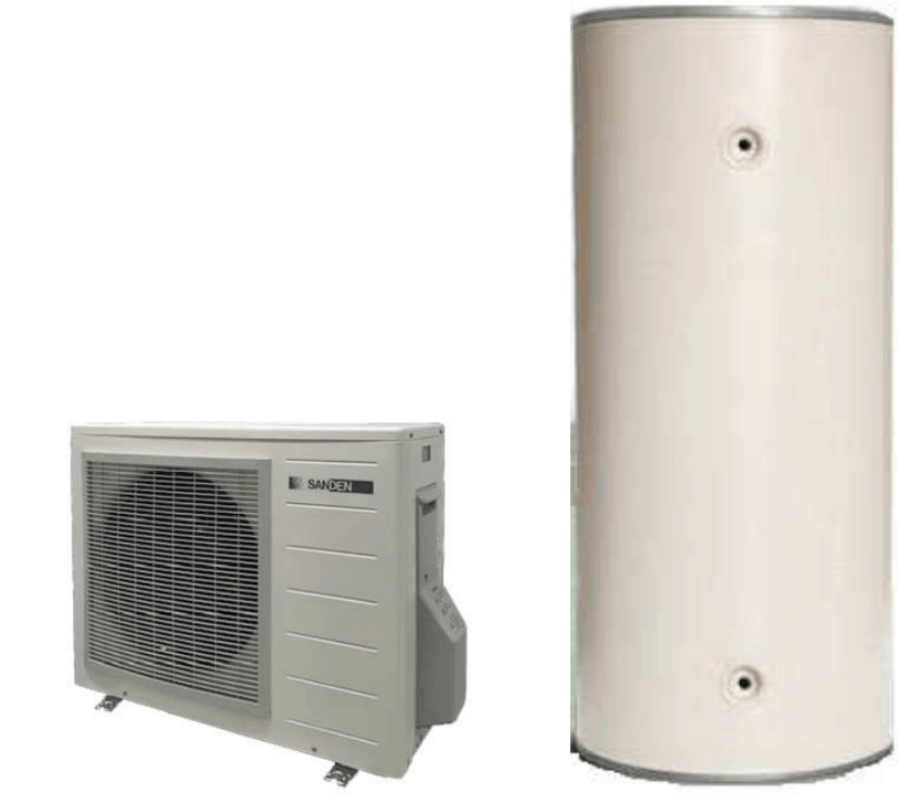 Adelaide Heat Pumps supply and install Sanden Hot Water Heat Pump with tank