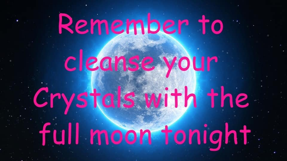 Full Moon Crystal Cleansing