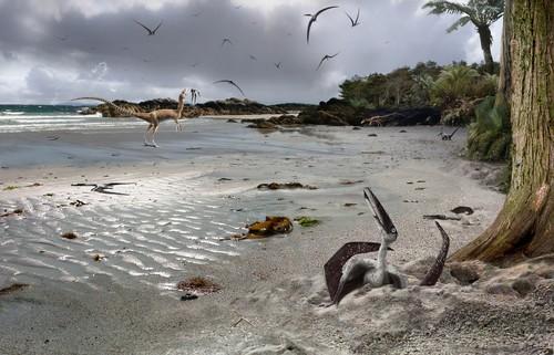 Pterodáctilos/Ilustración de James Brown