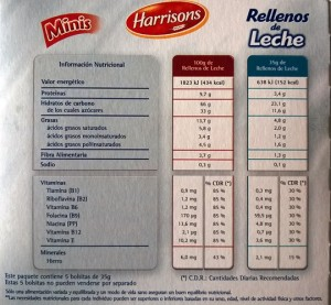 Valores Nutricionales Cereales Harrisons