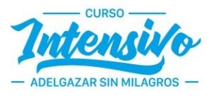 Logo curso intensivo Adelgazar sin Milagros