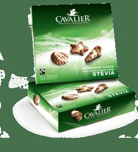 Chocolates belgas sin azúcar edulcorados con eritritol y estevia