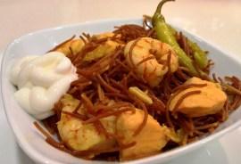 Resultado de la receta de fideos tostados lowcarb