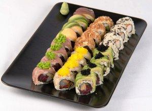 Sushi sin carbohidratos a base de coliflor