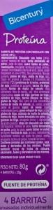 Ingredientes de barritas Bicentury Proteína entre horas