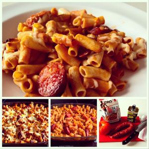 Recetas de Macarrones con Chorizo preparada con Pasta Proteica