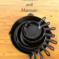 Seasoning new and restoring old Cast Iron Pans