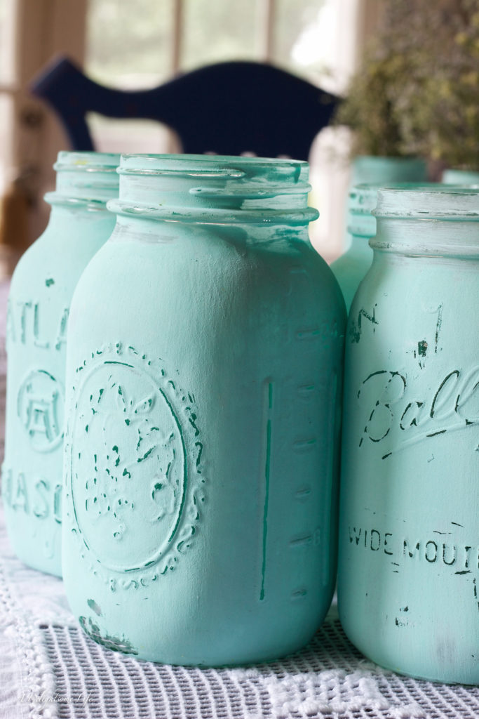 Chalk Painted Canning Jars  A Delightsome Life