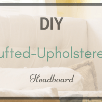DIY Tufted-Upholstered Headboard