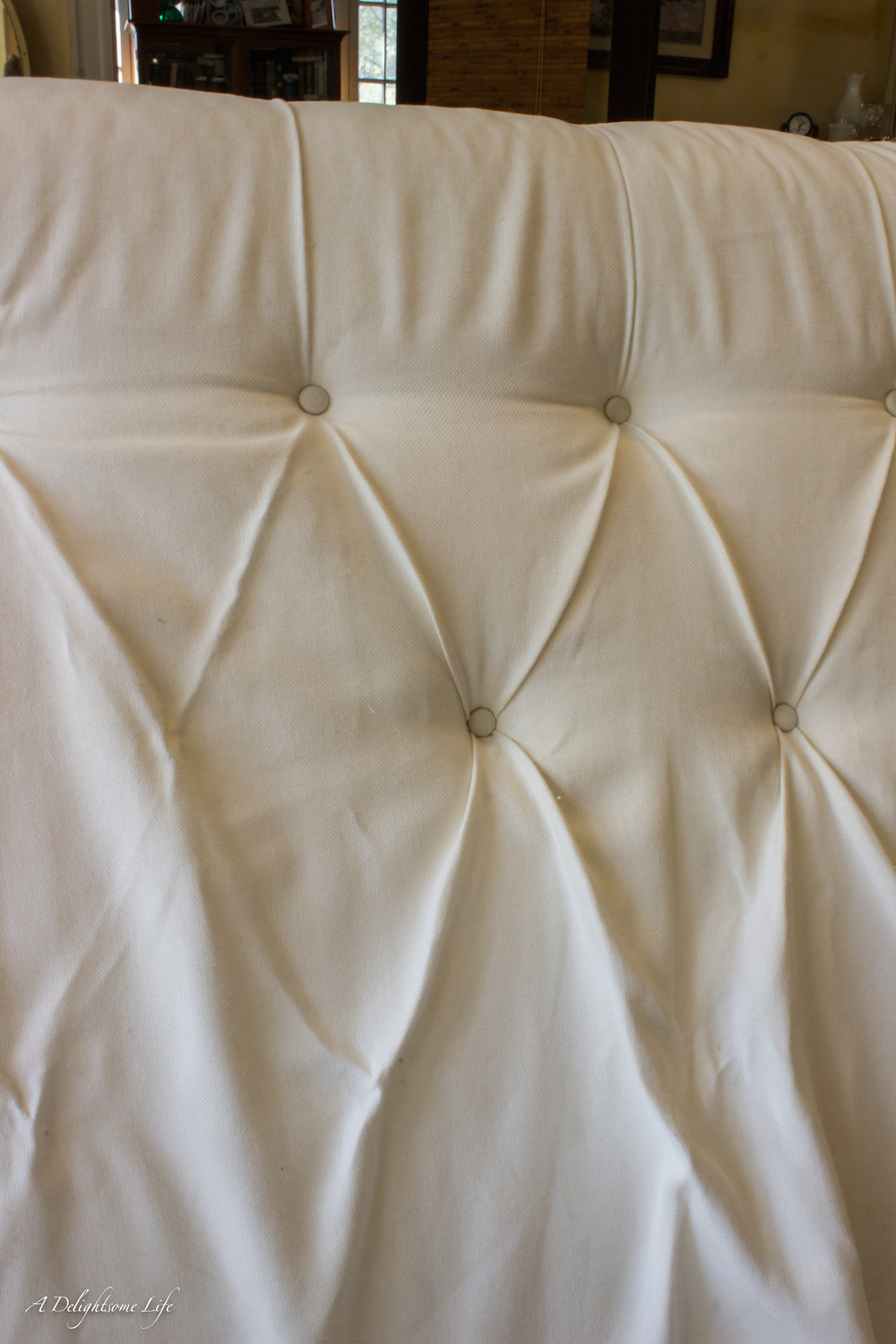 DIY Tufted Upholstered Headboard A Delightsome Life