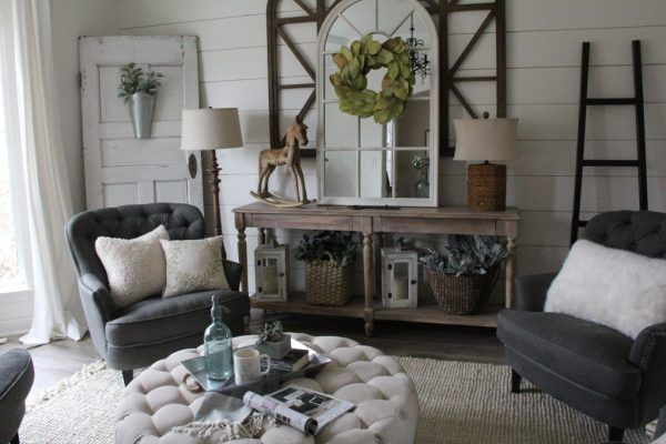 Leanna Clare and Grace Designs Neutral Winter Home Decor