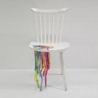 Bleeding Painted Chair  Adelle