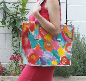 My Colourful tote bag!