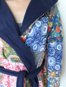 Patchwork dressing gown (All in two days work.)