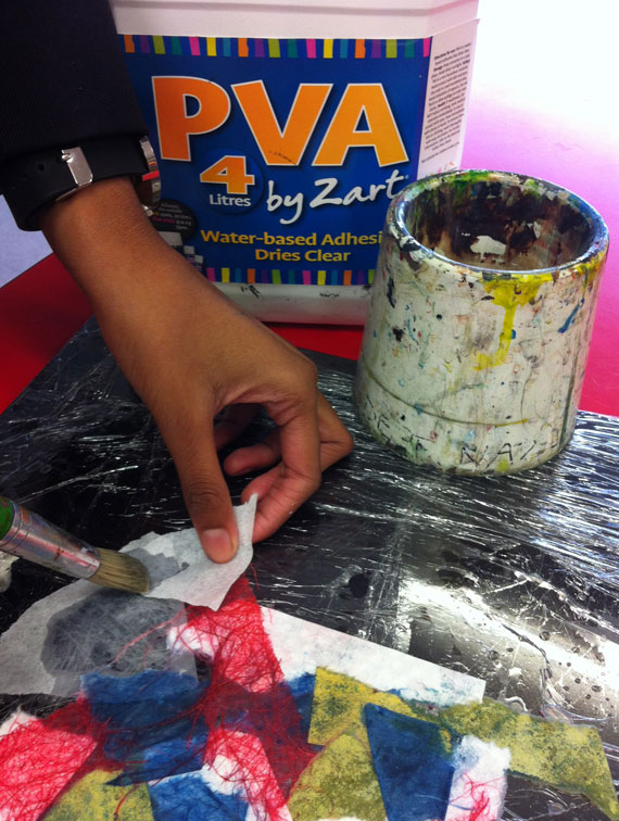 Making paper from recycled paper (without a paper making deckle)