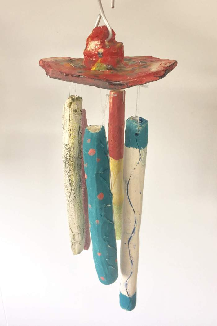 Ceramic wind chimes with year 7