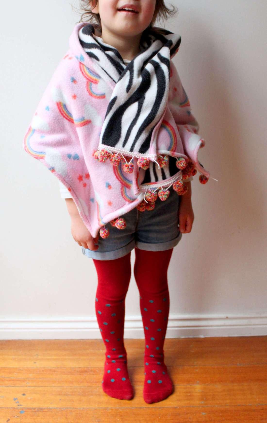 kids zebra print shawl