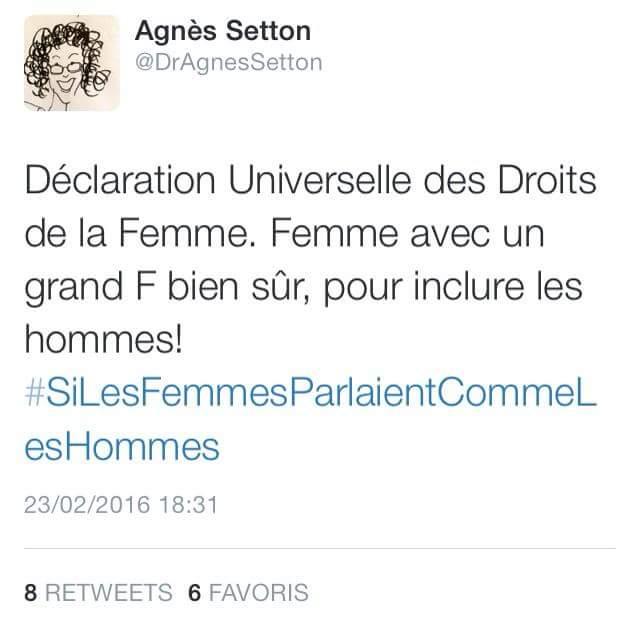 Tweet Agnès Setton