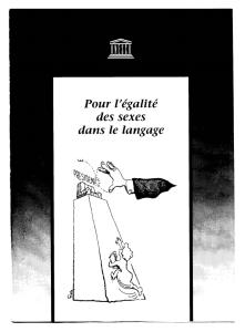 Pour l'égalité des sexe dans le langage - Unesco