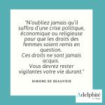 Simone de Beauvoir - Droits des Femmes