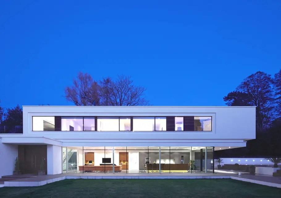 Ultramodern villa design  White Lodge England  Adelto