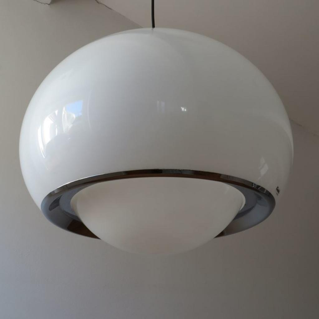 44,00 x 88,00 x 44,00 cm. Lampada Vintage Di Guzzini Italia Anni 60 Ademore
