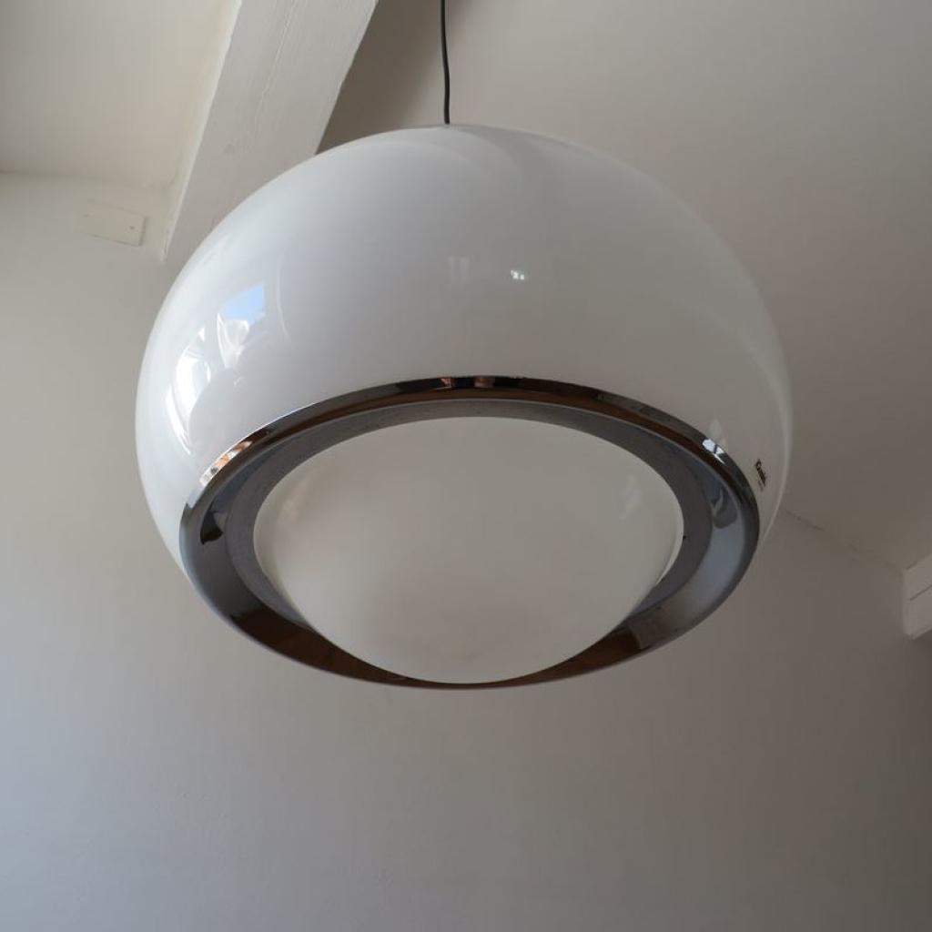 Pendant lamp, lampadario by luigi massoni per harvey guzzini anni 70. Lampada Vintage Di Guzzini Italia Anni 60 Ademore