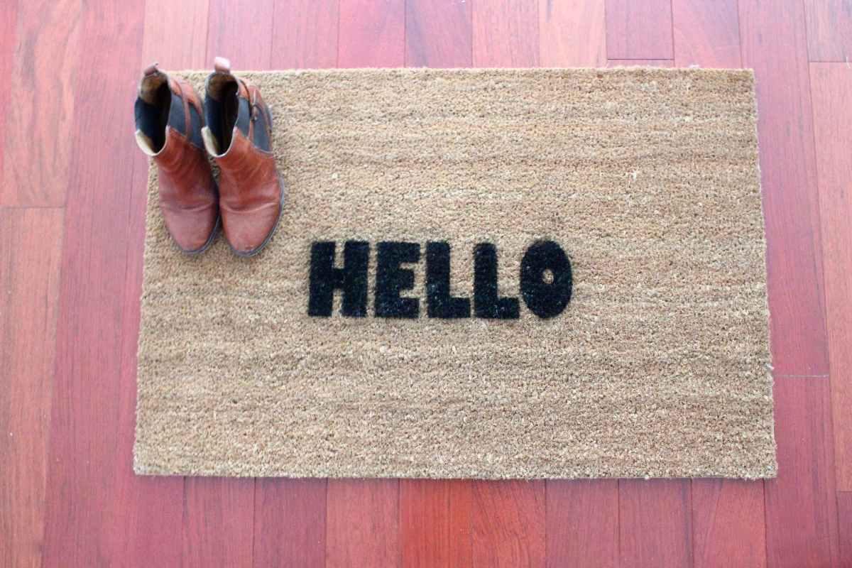 DIY Welcome Doormat