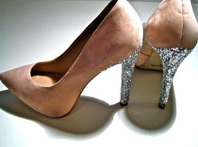 DIY Miu Miu Glitter Heels