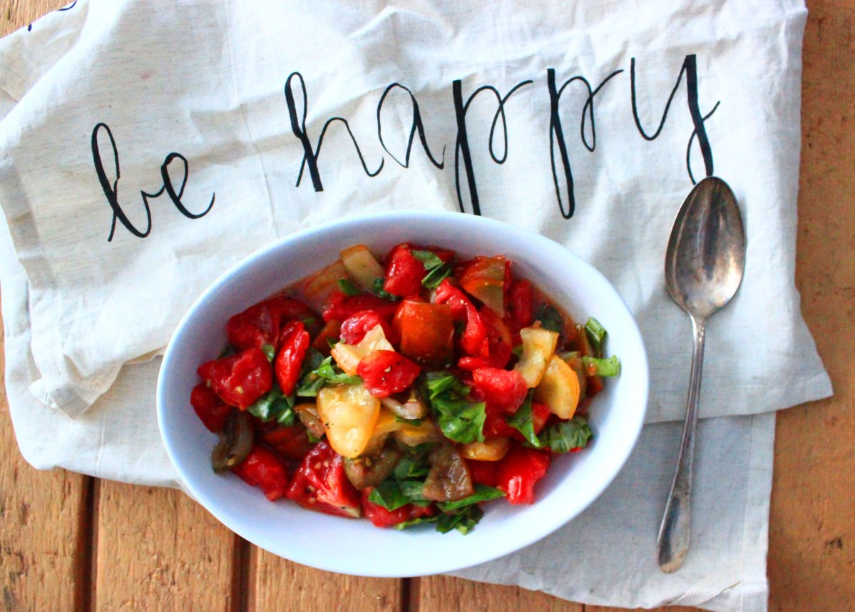 Fast, Easy, Fresh: Heirloom Tomato Basil Salad