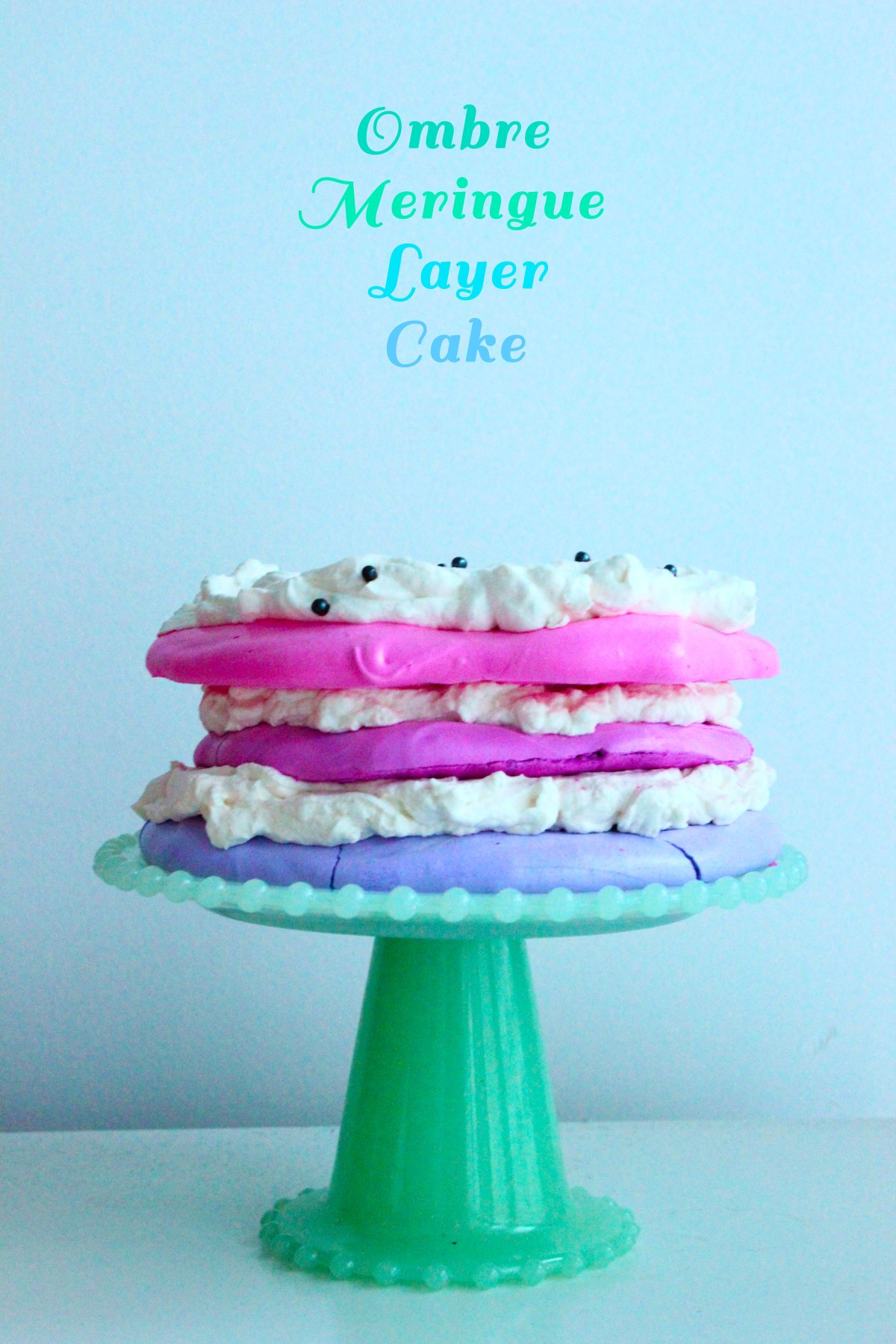 Ombre Meringue Layer Cake