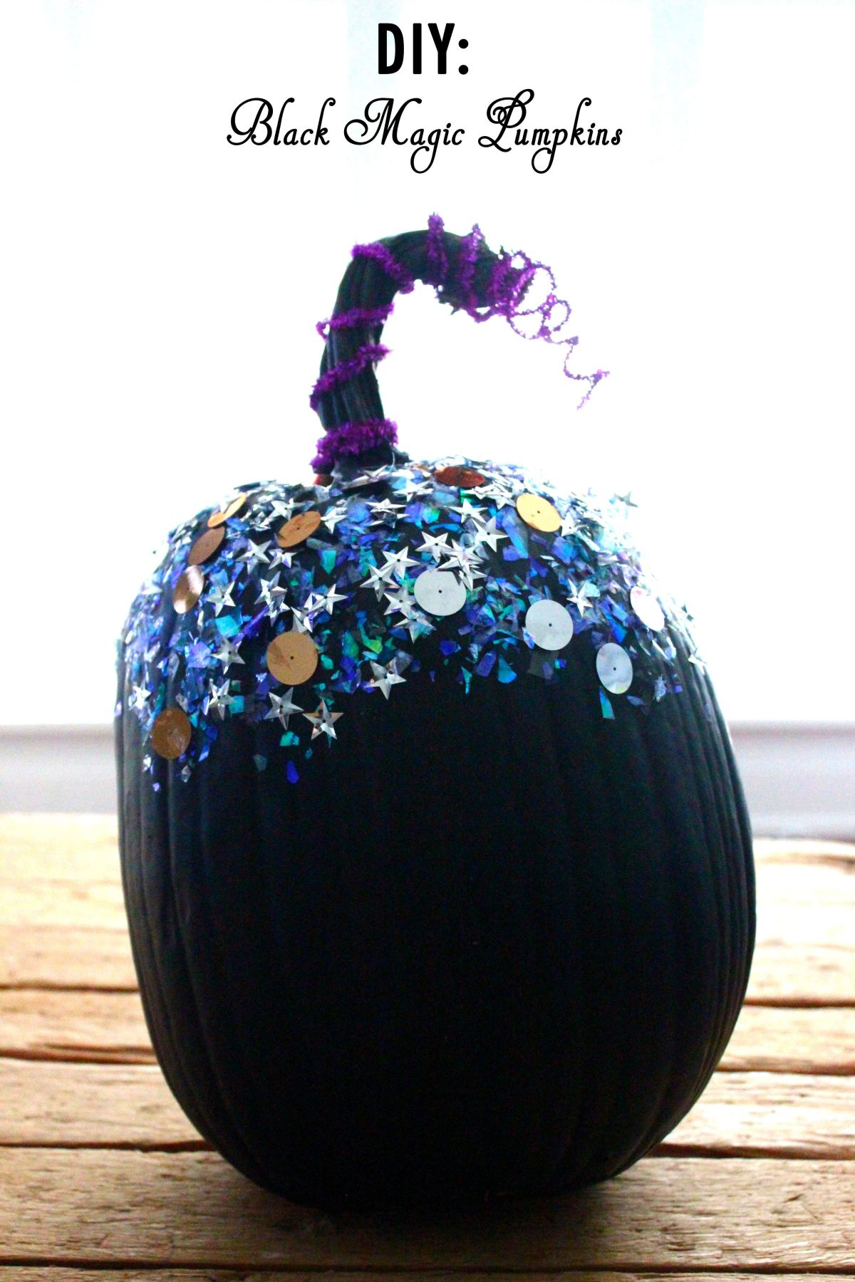 DIY: Black Magic Pumpkins