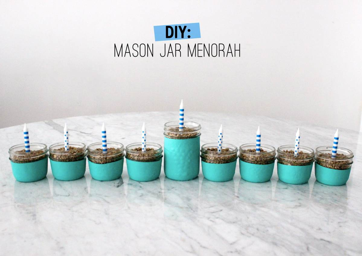 DIY: Mason Jar Menorah