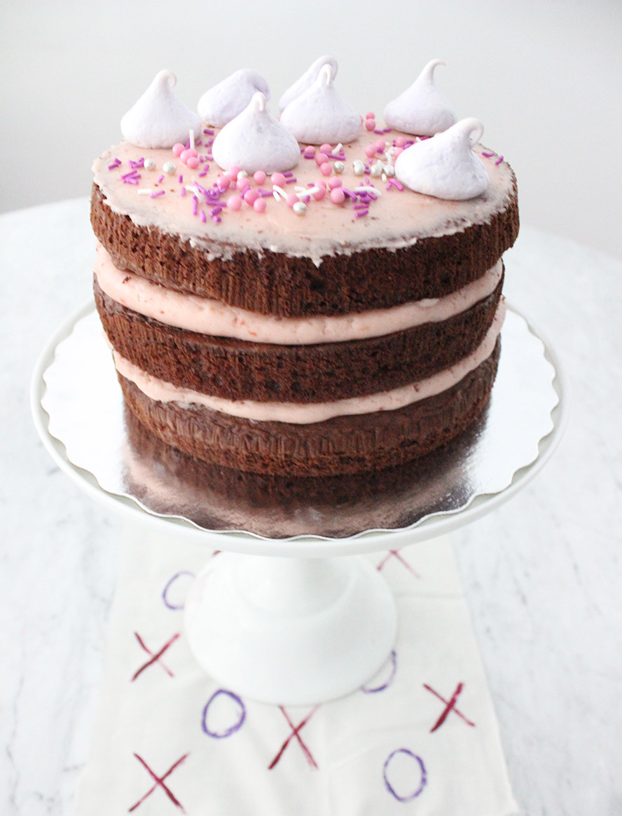 Chocolate, Strawberry and Champagne Cake
