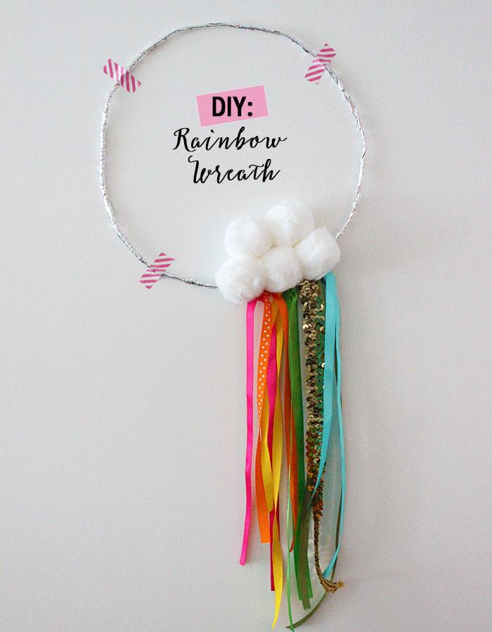 DIY: Rainbow Wreath