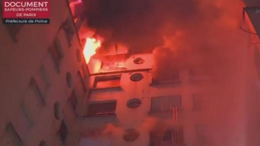 حريق ضخم يسفر عن قتلى وجرحى في العاصمة الفرنسية باريس