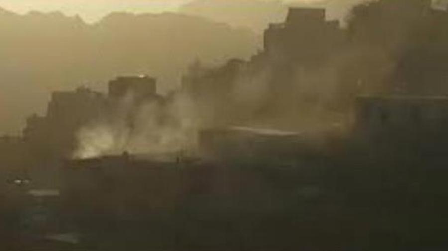 جريمة ضد الإنسانية: الحوثي يقصف حجور بالصواريخ
