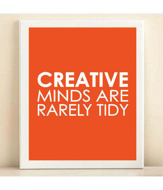 """Items similar to Tangerine """"Creative Minds"""" print poster on Etsy"""