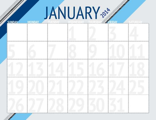 A Denver Home Companion | free printable downloadable monthly calendars for 2014