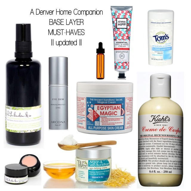 A Denver Home Companion | toiletry tuesday base layer update
