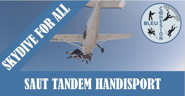 Saut Parachute en tandem Handisport